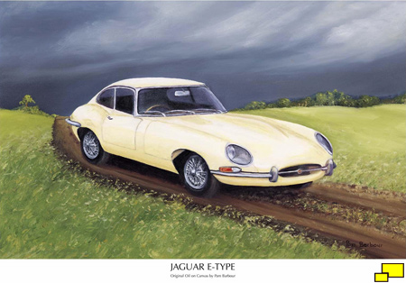 Jaguar E-Type Coupe painting