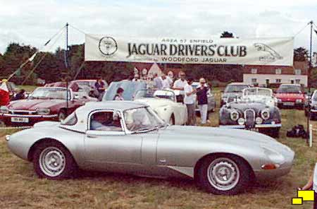 Jaguar E-Type Lightweight on display