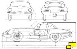 Jaguar E-Type OTS drawing